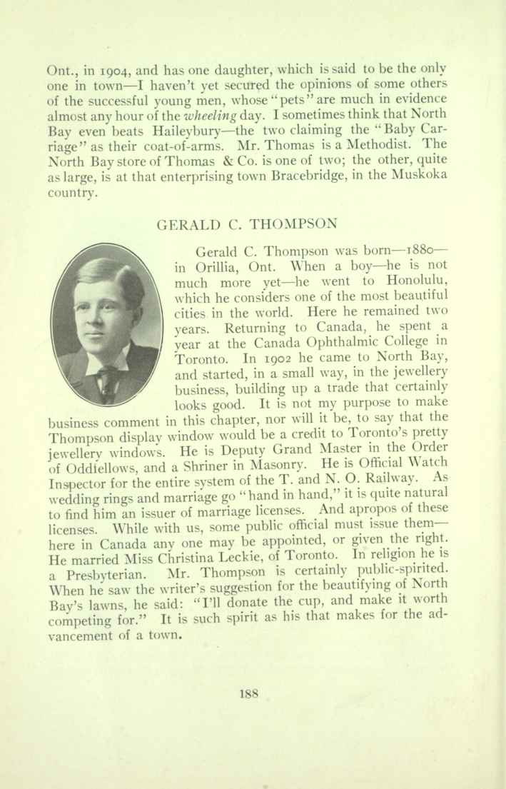 George C. Thompson Biographical Information