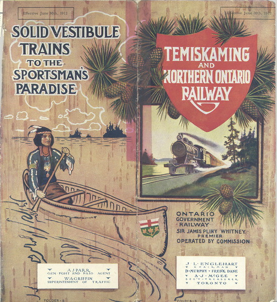 Temiskaming and Northern Ontario Railway Timetable
