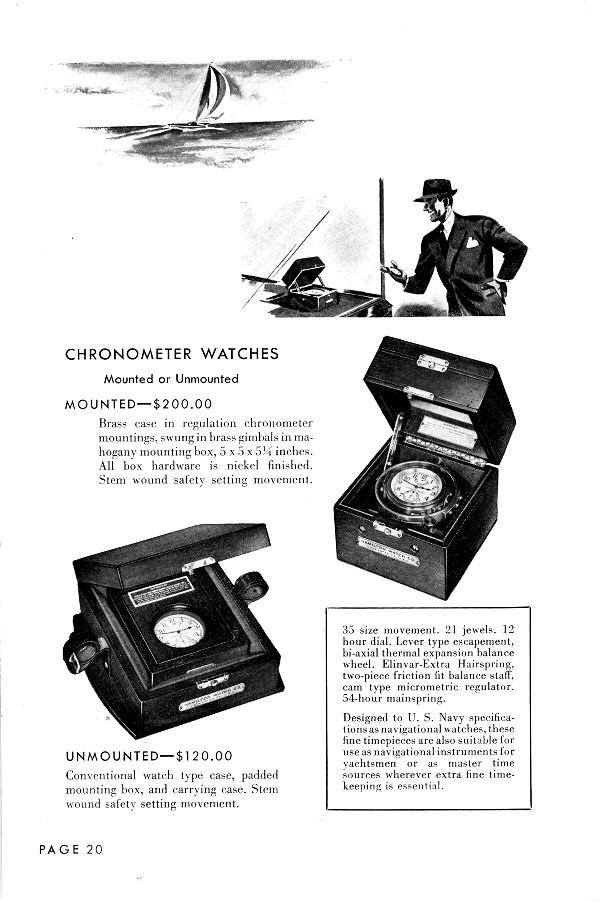 Il a débarqué : Revue d'un Chronomètre de Marine Hamilton de la WW2 - Page 6 Hamilton_Chromometer-1949-Cat-1